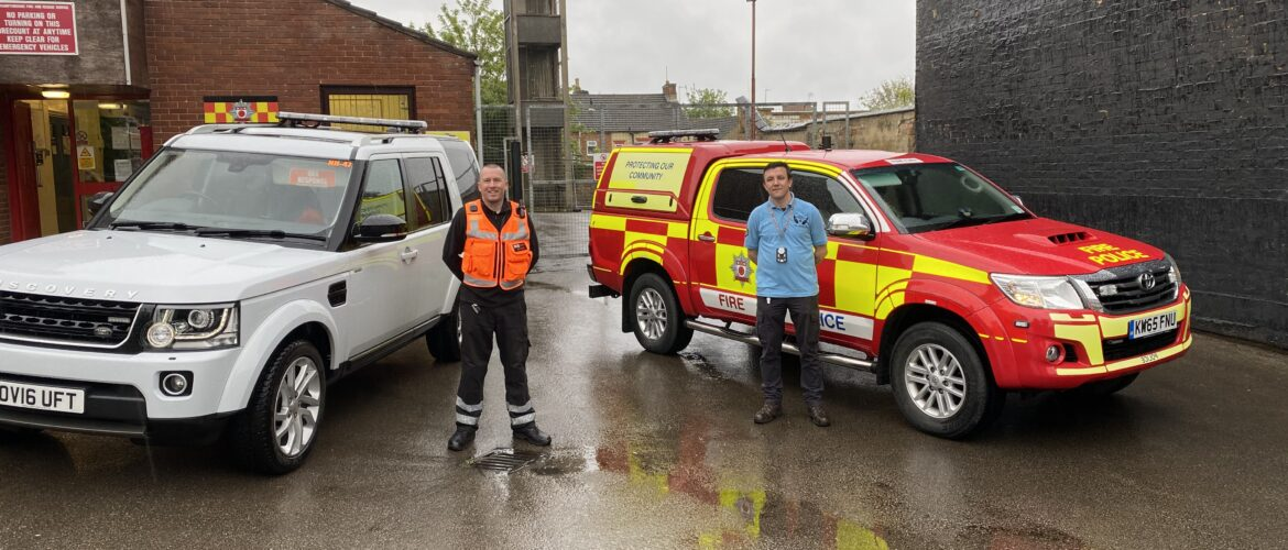 Northants 4x4 Response vehicle and volunteer